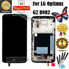 Black For LG Optimus G2 D802 LCD Display Digitizer & Touch Screen & Frame in UK
