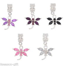 10Pcs Mixed Dragonfly Dangle Beads Fit Charm Bracelet