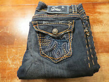 "WOMEN'S MEK FROM THE BUCKLE ""LAS TUNAS"" BOOT CUT JEANS (EUC) SIZE 26X32 AWSOME"