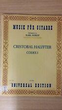 Musik Piel Np: Cristóbal Halffter: Codex 1: partitura (A1)