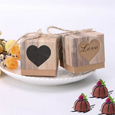 Wholesale 50 Brown Shabby Square Sweets Candy Gift Boxes for Wedding Party