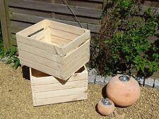 4 einmalig gebrauchte Obstkisten sehr stabil,  Holzkisten-Apfelkisten