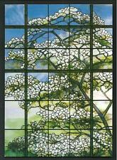 Louis Comfort Tiffany : Dogwood ( detail ) - cartolina stampata in USA - 2012