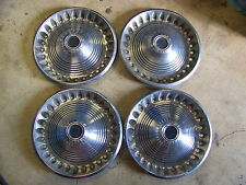 "1973 74 PLYMOUTH SATELLITE SEBRING HUBCAPS WHEEL COVERS 14"" (4)"