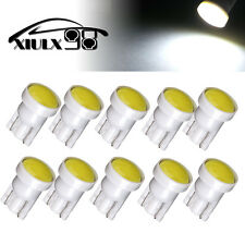 10X T10 COB LED Car White Instrument Dash Light Side Wedge Bulbs W5W 194 168 12V