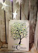 013 Personalised Family Tree plaque / 28 X 20  Unique Family Name Sign