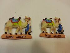 "Lot of 2 Camel Magnets Saudi Arabia 3""x 2.7"" free shipping"
