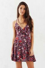 NWT XS Kimchi Blue Floral Wrap Dress Lace Up Nasty Gal Sexy Hot Hippy Hippie