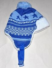 Cute Baby Boy Toddler Infant Winter LaceUp Hat  Earflap
