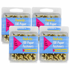 """FaberCastell Pack-its Brass Plated Paper Fasteners, 3/4"""" Diameter, Gold 400/Pack"""