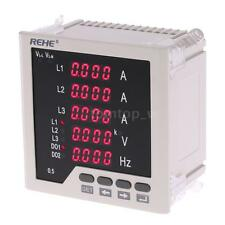 Digital LED Panel Meter Frequency 3 Phase AC Current Voltage Programmable O4J1