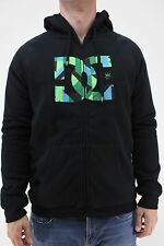 New DC SHOES Mens Rob Dyrdek Herm Zip Hoodie M Black/Green/Blue Sherpa Lined DR1