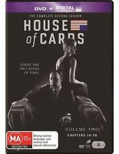 House Of Cards : Season 2 DVD + DIGITAL ULTRAVIOLET (4-Disc Set) Sealed