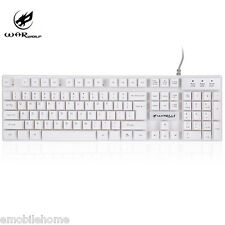 Warwolf K1 USB Wired Optical Mechanical Keyboard with LED Backlight Waterproof