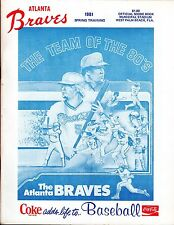 1981 SPRING TRAINING ATLANTA BRAVES vs ST  LOUIS CARDINALS MAGAZINE PROGRAM  EX+