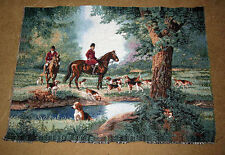 Fox Hunt Which Way Did He Go Crafters Unfinished Tapestry Wall Hanging Fabric