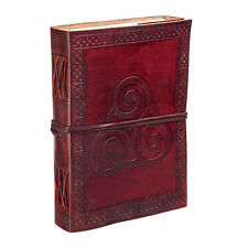 Fair Trade Handmade Celtic Triskelion Symbol Leather Journal Notebook Diary