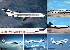 Flugzeuge Postkarte Airline postcard AIR CHARTER Boeing, Airbus diverse Modelle