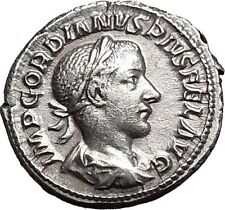 GORDIAN III 240AD Authentic Ancient Silver Roman Coin APOLLO i55705