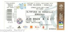 Billet  / Place Olympique de Marseille - OM vs Bordeaux - 2009 ( 014 )
