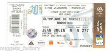 Billet  / Place Olympique de Marseille - OM vs Bordeaux - 2009 ( 014 )