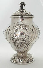 Tea Caddy Rococo Inverted Pear Georgian Solid Sterling Silver Herne & Butty 1760
