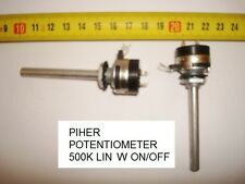 POTENCIOMETRO CARBON. CARBON PIHER POTENTIOMETER 500K LIN W ON/OFF -1A-250V