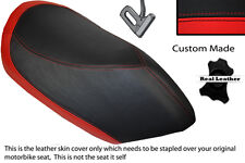 RED & BLACK CUSTOM FITS PEUGEOT JETFORCE 50 125 FRONT LEATHER SEAT COVER