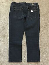 "GUESS PREMIUM DENIM Jeans CAPRI CROPPED LOW RISE Stretch Zip Fly sz 24 26"" W"