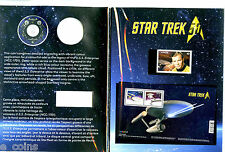 2016 RCM 25 CENT STAR TREK COIN AND STAMP SET BOOKLET WITH 3 STAMPS OGP NO COIN