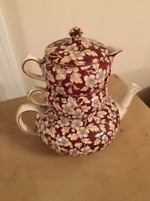 BEAUTIFUL ANTIQUE LORD NELSON CHINTZ STACKABLE TEA POT Royal Brocade