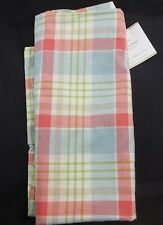 """POTTERY BARN WILTON PLAID PILLOW COVER 22"""" REDS BLUES GREEN NEW #248"""