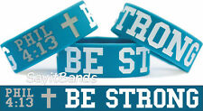 Be Strong Philippians Phil 4:13 Wristband Bracelet Bible Scripture Free Shipping