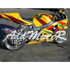 For GSX-R600 01-03 GSXR750 00-03 Injection Fairing Kit In Red Blue Yellow + Tank