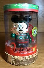 "DISNEY 3"" VINYLMATION JINGLE SMELLS #2 MICKEY GINGERBREAD FIGURE ORNAMENT NIB"