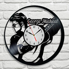 George Michael design vinyl record wall clock home art bedroom playroom music 1