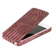 REAL HOCO BOROFONE LIZARD FLIP Leather Case Cover for iphone 5 PINK