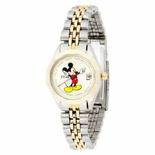 Disney Women's MCK342 Mickey Mouse Classic 'Moving Hands' Two-Tone Bracelet Watc