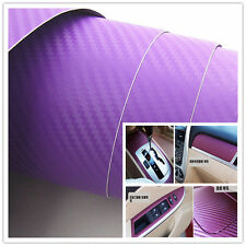 30X127CM purple Carbon Fiber Vinyl Wrap Sticker Car Interior Console Panel Decal