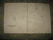 ANTIQUE 1889 1986 UPPER FREEHOLD TOWNSHIP CREAM RIDGE ALLENTOWN NEW JERSEY MAP N