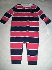 NWT American Living Infant Boy Red/Navy Stripe Rugby Outfit - size 9 months