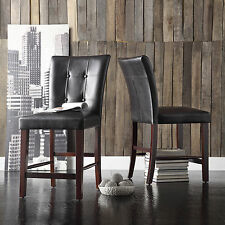 TRIBECCA HOME Colyton Bonded Leather Counter Height Stool (Set of 2)