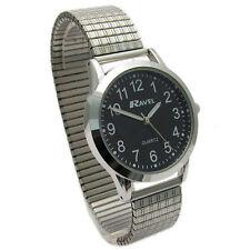 Ravel Gents Super-Clear Quartz Watch with Expanding Bracelet sil #33 R0230.03.1