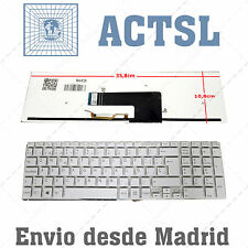 Keyboard Spanish for Sony Vaio Fit15 Backlit White Blanco