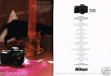 Publicité Advertising 1990 (2 pages) Appareil Photo Nikon F 601 .... Chat