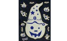 Stickers en 3D d'Halloween tête de citrouille fantome yeux Stickers en 3D d'Hall