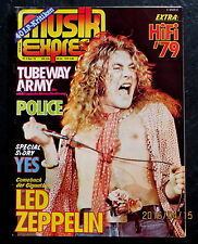 Musik Express 09/79 Cover: Led Zeppelin, Yes-Story, Police,Tubeway-Army, HiFi 79