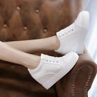 Stylish Womens Wedge Hidden Heels Sneakers High Top Lace up Casual/Sport Shoes