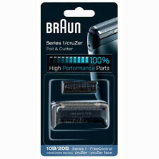 BRAUN Mens Shaver 10B/20B 1000/2000 Series 1 Foil + Cutter Pack Head Replacement