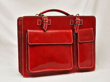 Sac en Cuir  ROUGE Ordinateur Portable Case Logic  SACOCHE SERVIETTE PORTE DOC